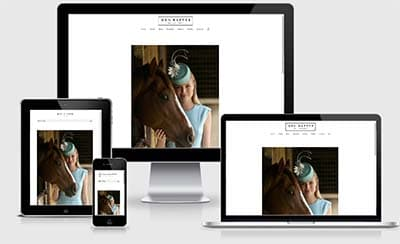 meg rafter millinery website development responsive