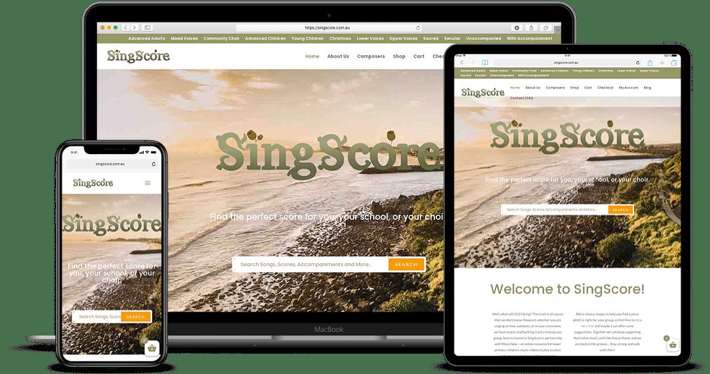 Singscore responsive ecommerce website build